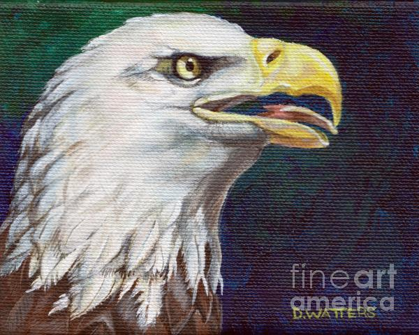Raptor Attention Painting  - Raptor Attention Fine Art Print