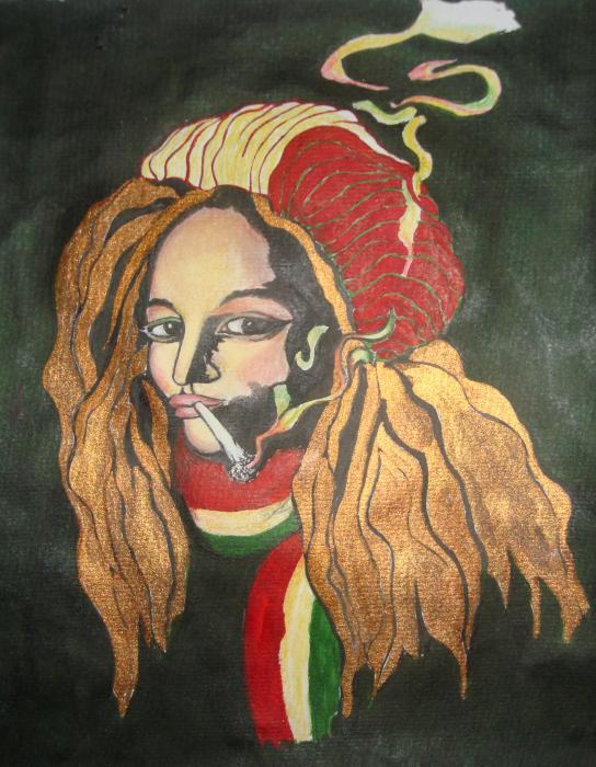 drawing of rasta