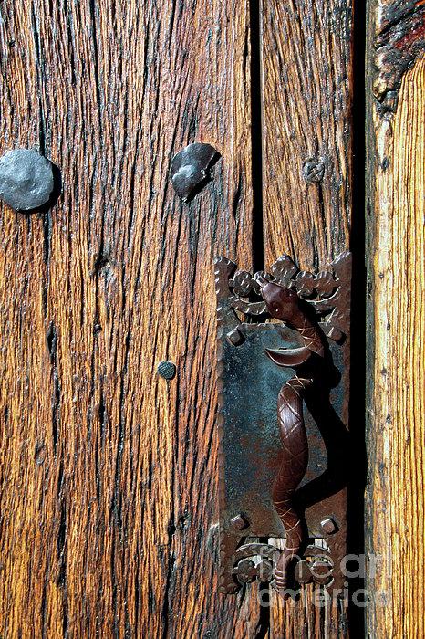 Rattlesnake Door Handle Mission San Xavier Del Bac Print by Thomas R Fletcher