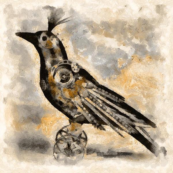 Raven - Steampunk Print by Shabbir Degani