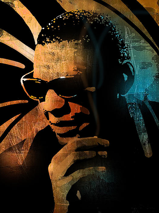 Ray Charles Print by Paul Sachtleben