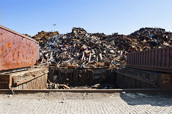 Recycle Dump Site Or Yard For Steel Print by Corepics