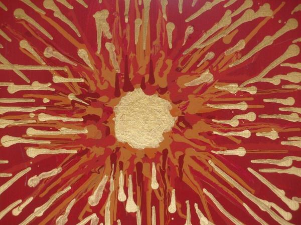 Red And Gold No. 2 Painting  - Red And Gold No. 2 Fine Art Print