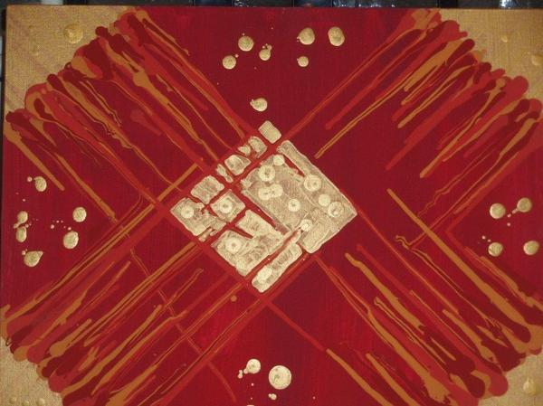 Red And Gold No. 3 Print by Samuel Freedman