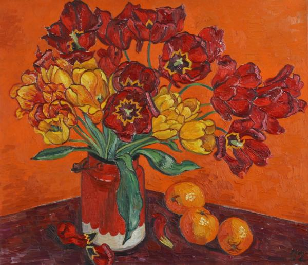 Vitali Komarov - Red and yellow tulips and oranges