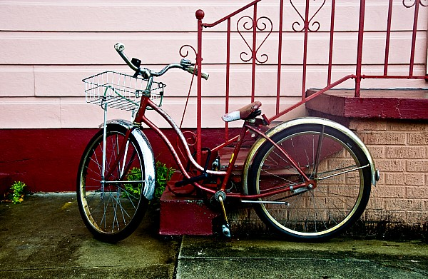 Red Beach Cruiser Photograph