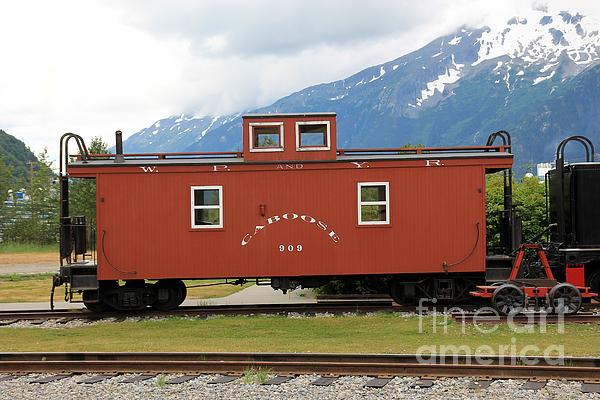Red Caboose Print by Sophie Vigneault