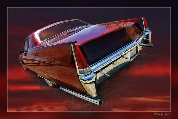 Red Cadillac Print by Blake Richards