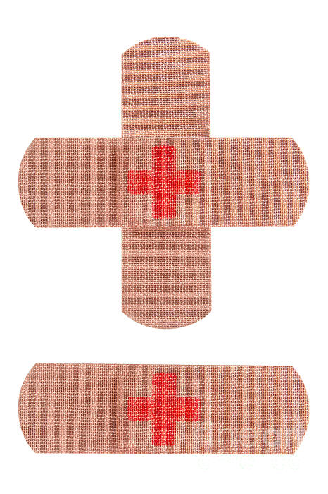 Red Cross Bandages Print by Blink Images