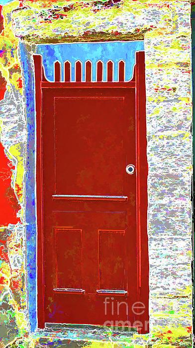 Red Door Print by Dulce Levitz