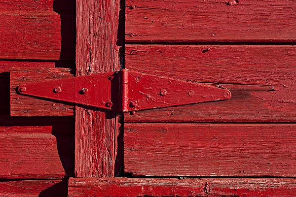 Red Door Henge Print by Garry Gay