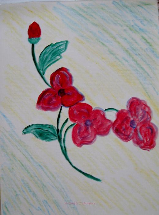 Sonali Gangane - Red Florals
