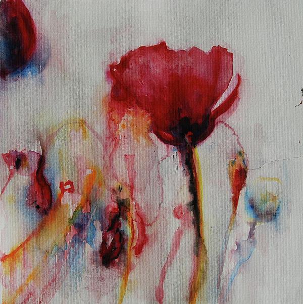 Red Flowers Print by Tatiana Ilieva