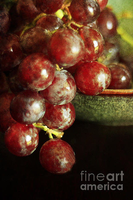 Red Grapes Print by Darren Fisher