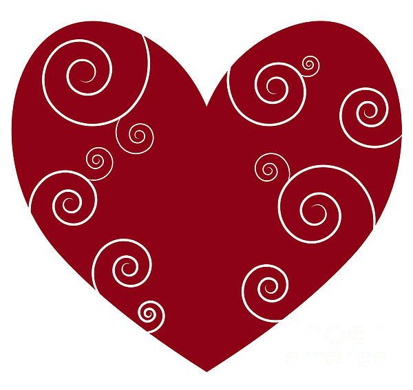 Red Heart Print by Frank Tschakert