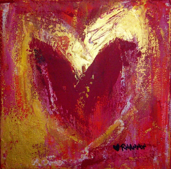 Rhiannon Marhi - Red Heart with Gold