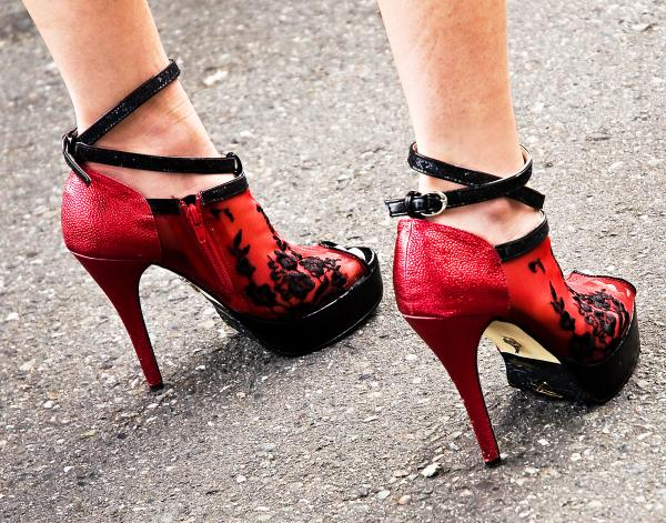 Red Heels Print by Marion McCristall