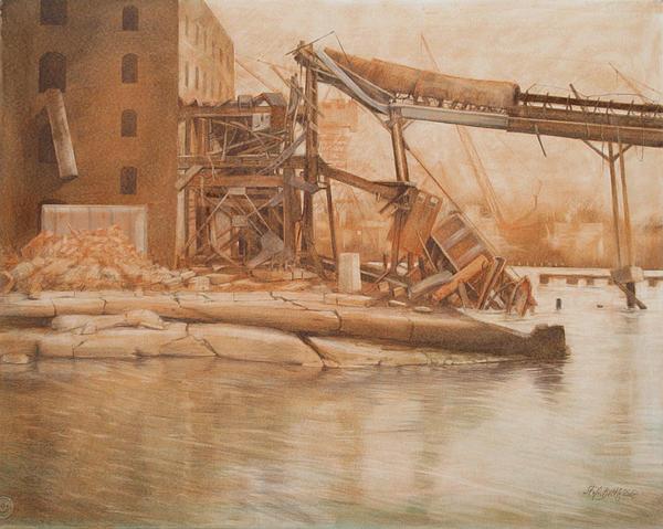 Red Hook Print by Stefan Beltzig
