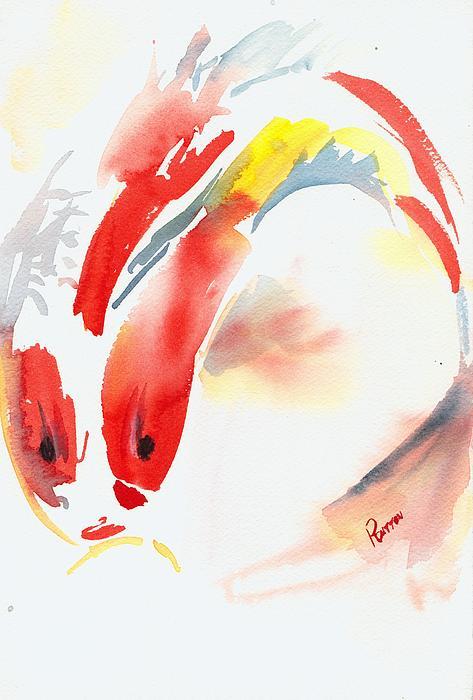 Red Koi Print by Rachel Dutton