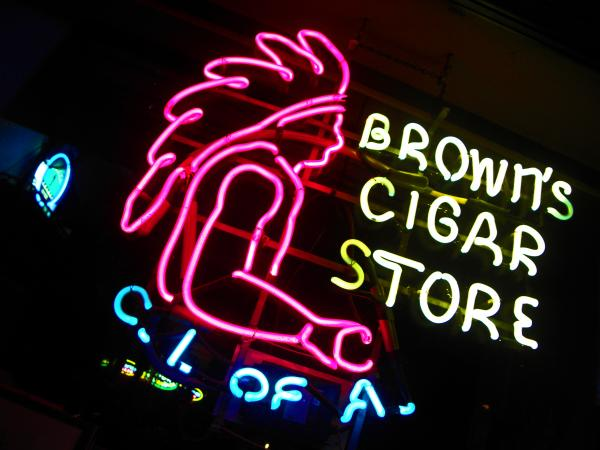 Red Man's Smoke Shop Print by Elizabeth Hoskinson