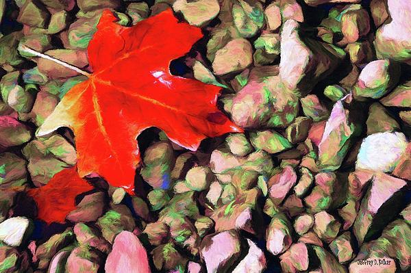 Red On The Rocks Print by Jeff Kolker