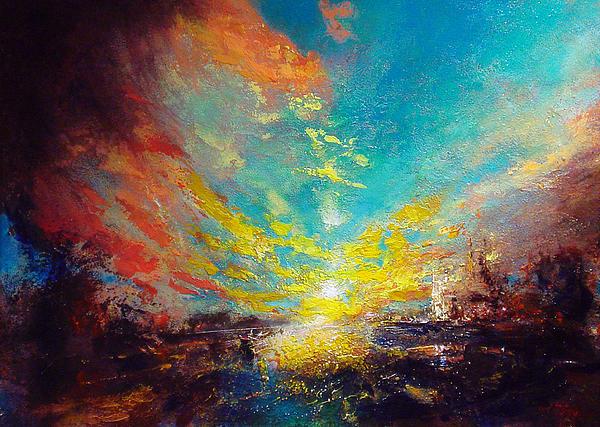 Red Rain Print by Neil McBride