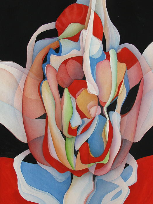 Red Rising Print by June Adler