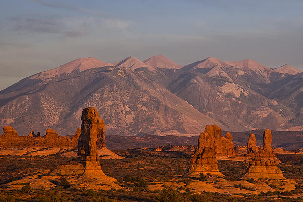 Red Rock Of Arches Print by Andrew Soundarajan