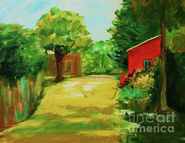Red Shed Print by Julie Lueders