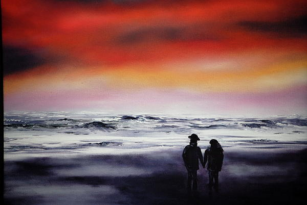 Red Sky Print by Johanna Larson