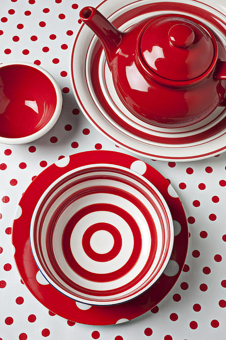 Red Teapot Print by Garry Gay