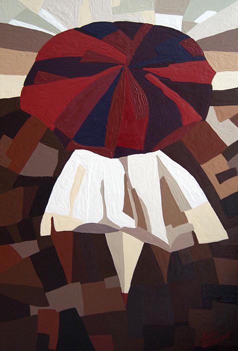 Red Umbrella Print by Alena Samsonov
