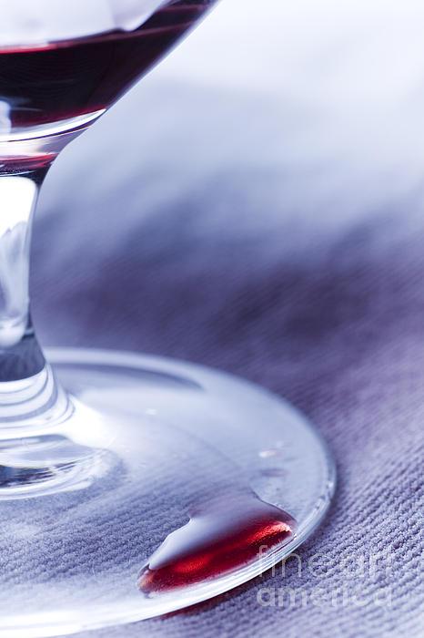 Red Wine Glass Print by Frank Tschakert