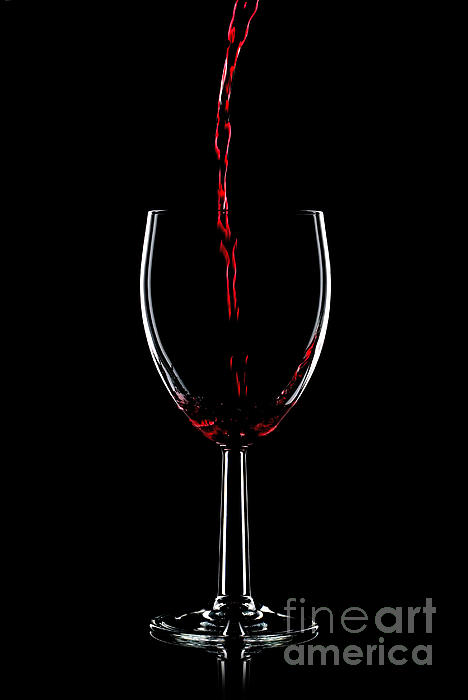 Red Wine Pouring Print by Richard Thomas