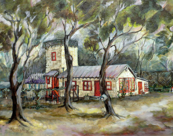 Redwood City Tankhouse Print by Jean Groberg