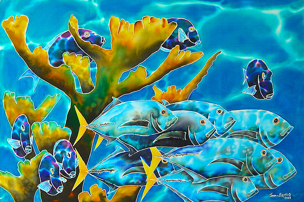 Reef Fish Print by Daniel Jean-Baptiste