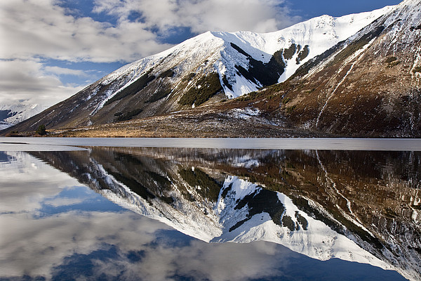 Reflection In Lake Pearson, Castle Hill Print by Colin Monteath