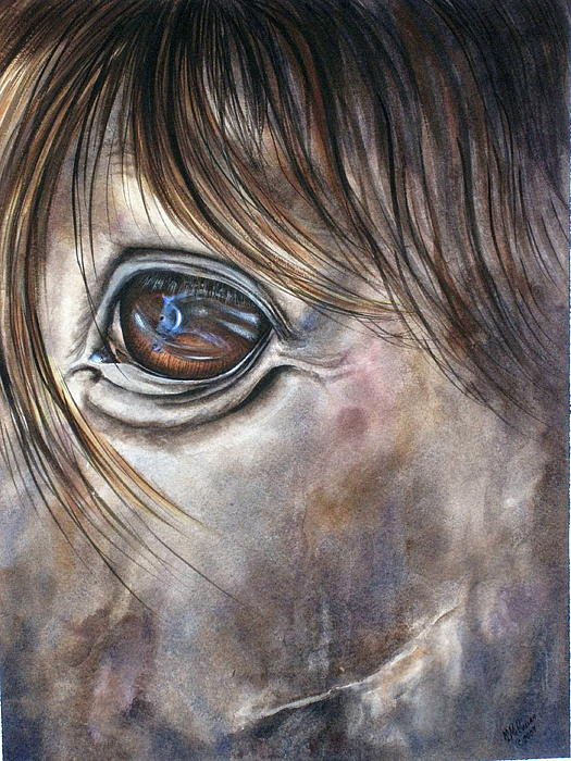 Reflection Of A Painted Pony Print by Mary McCullah