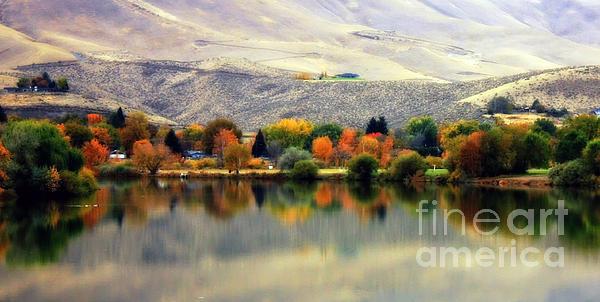 Reflection Of Fall In Prosser Print by Carol Groenen