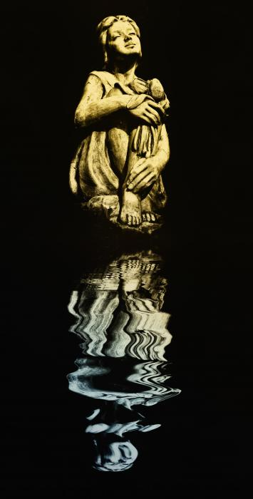 Reflections In The Moonlight Print by Bill Cannon