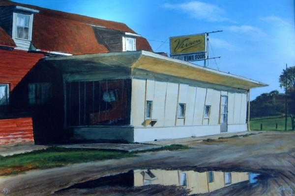 Reflections Of A Diner Print by William  Brody