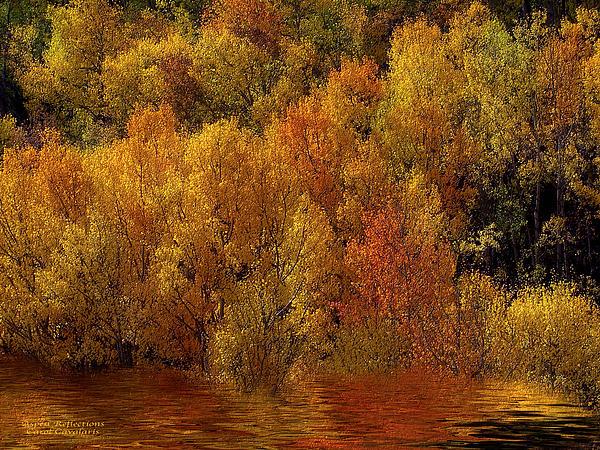 Reflections Of Autumn Print by Carol Cavalaris