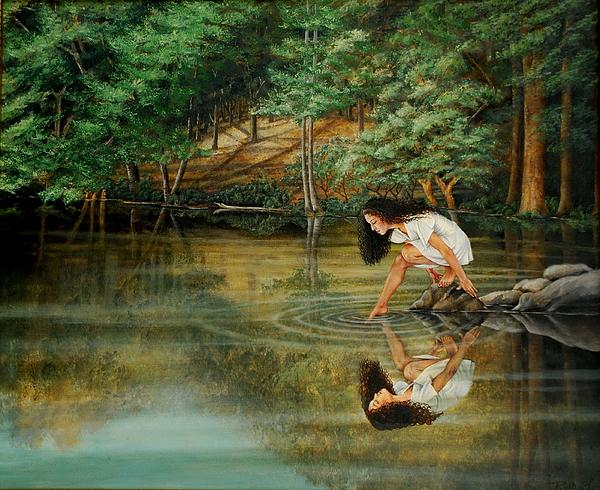 Reflections Of God's Love Print by Ruth Gee