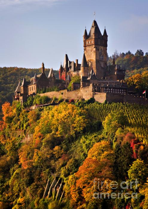 Reichsburg Castle Print by Louise Heusinkveld