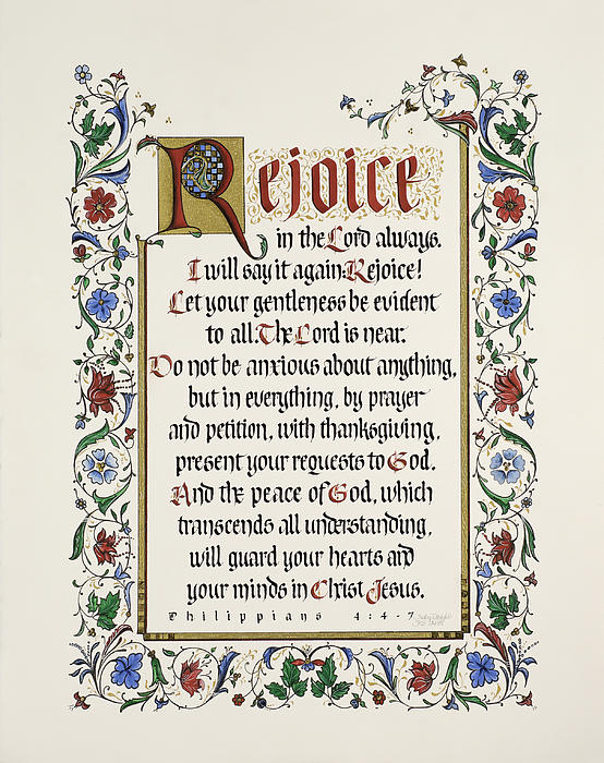 Rejoice II Print by Judy Dodds