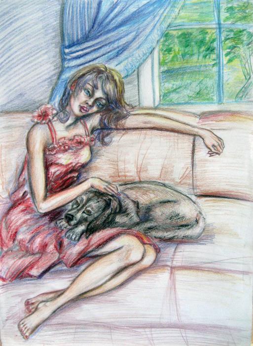 Relaxation  Print by Yelena Rubin