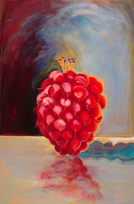 Remarkable Raspberry Print by Diane Woods