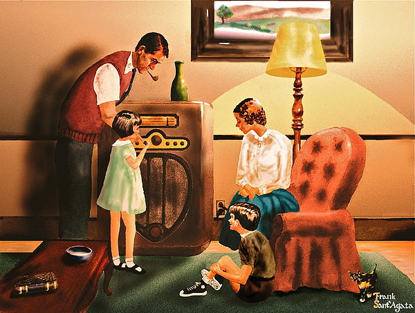 Remember When We Listened To The Radio Print by Frank SantAgata
