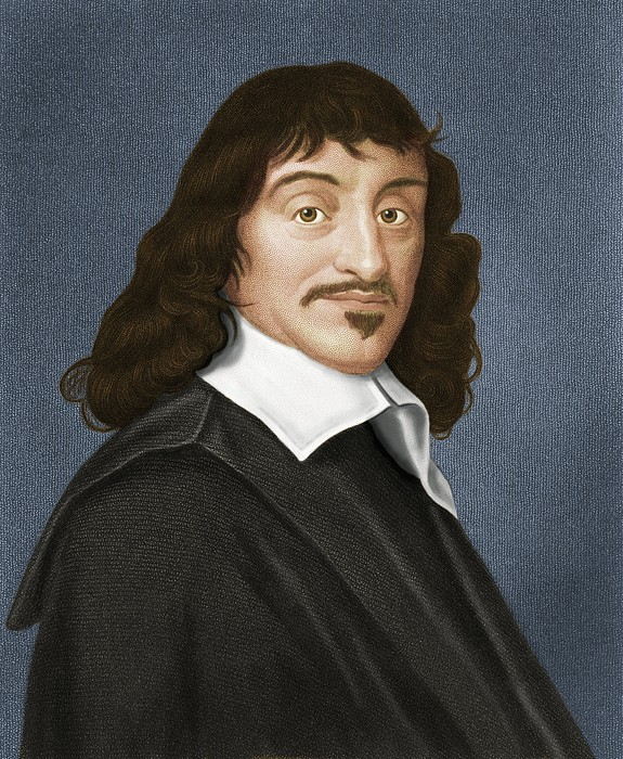 Rene Descartes, French Philosopher Print by Maria Platt-evans