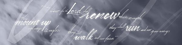 Renew Thy Strength Print by Elizabeth Rogers